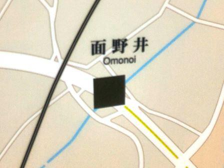 研究学園駅改札近くの地図は修正されたが、まだ間違いが!