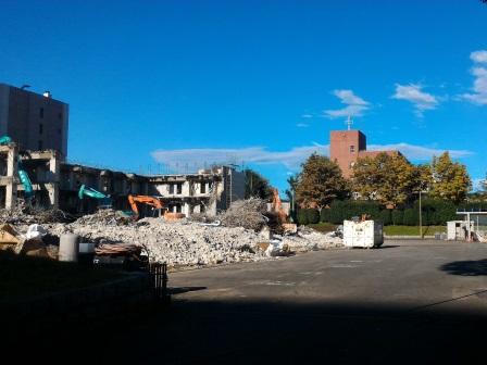 土浦学園線沿いのURの建物の解体が進んでいた!