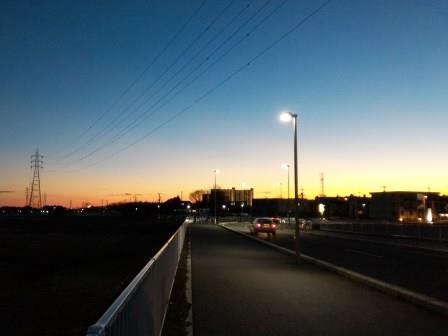葛城北線の下平塚橋からの夕暮れ!