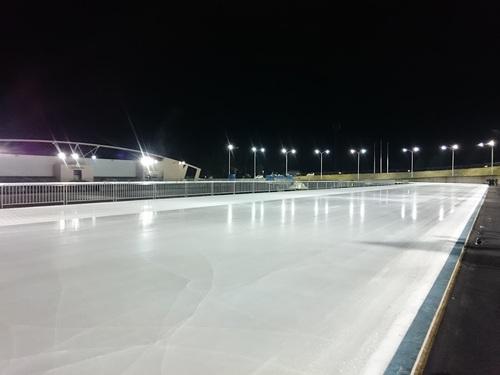 日光霧降スケートセンターで国体予選