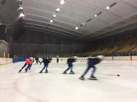 (S)笠松での氷上練習