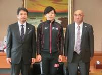 (S)小田卓朗選手が茨城県知事と水戸市長を表敬訪問しました