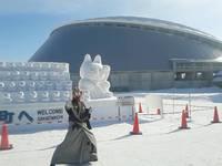 【出陣報告】2/5札幌雪まつりのつどーむ会場オープニングを勤めたぜぇ!By炎龍
