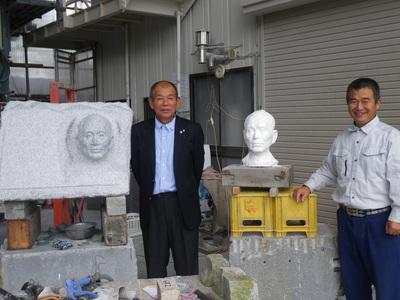 彫刻 浅賀と モデルさん