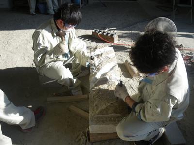 市民のためのモニュメント制作 真壁高校