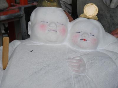 石のお雛様 浅賀正治の彫刻