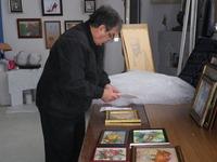 ブルガリア共和国イコン絵画・刺繍展 エンチェフ氏準備 2016/04/03 18:47:37