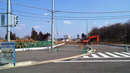 新都市中央通りの延長工事が始まりました!