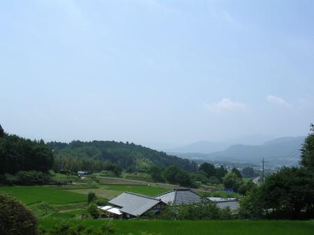 吾国山 山間の集落