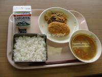 給食の試食