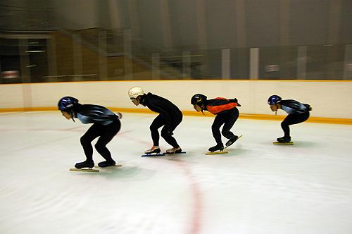 2009年10月15日の氷上練習