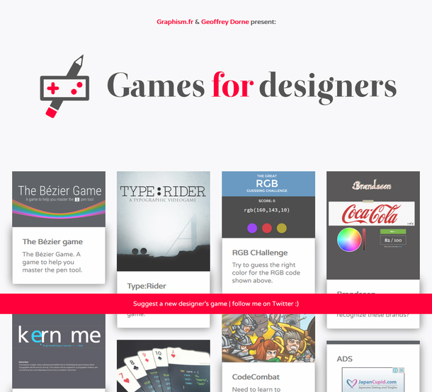 Creative games for creative designers