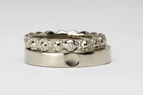 ブラウンダイヤの結婚指輪