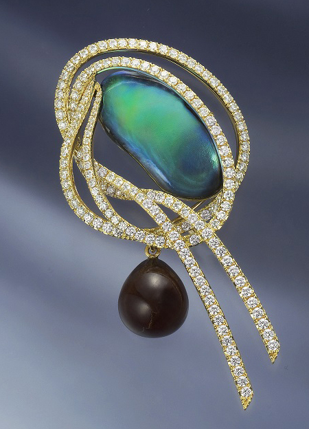 アバロン(あわび)真珠☆天然真珠展