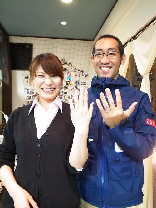 微笑みマーク♡プレーンな結婚指輪★手作り指輪