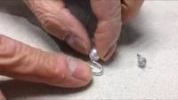 茨城県桜川市 宝石修理 真珠イヤリングをピアスに