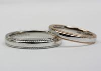 ミル打ちの☆手作り結婚指輪