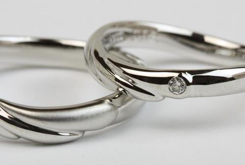天使の羽が舞い降りる☆手作り結婚指輪