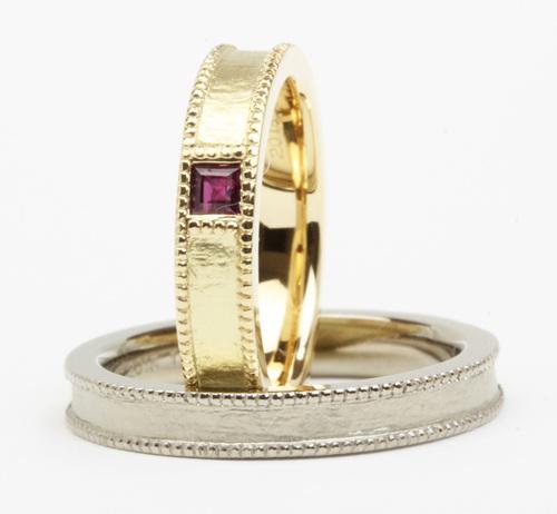 ルビーの手作り結婚指輪☆
