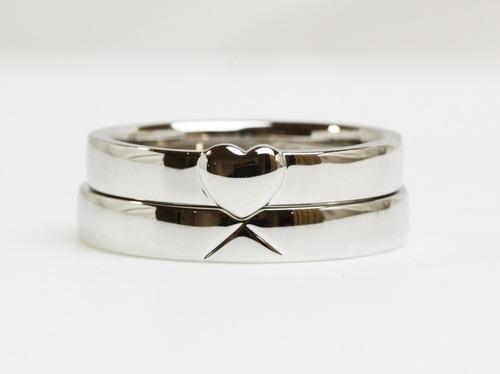 ハートの結婚指輪☆