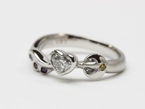 天使の羽と☆ハートダイヤの結婚指輪☆
