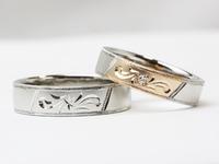 手作り結婚指輪 和彫リング 笠間市 ジュエリーマーノ