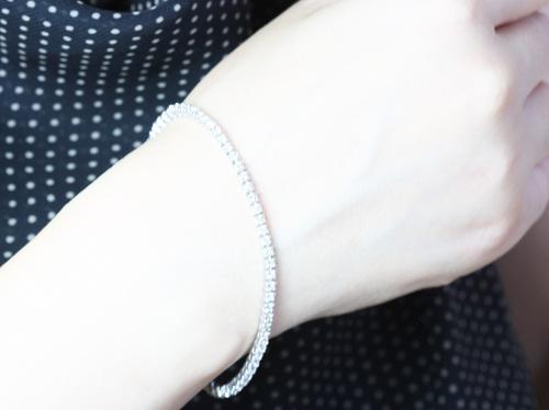 激安☆2ctのダイヤモンドテニスブレス