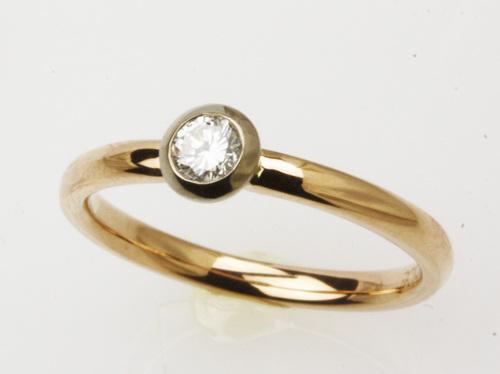 k18ピンクゴールドのダイヤモンドファッションリング 茨城県桜川市宝石店