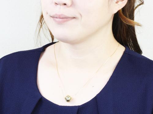 透かし彫りペンダント「麻の葉」13㎜珠 伝統工芸マーノオリジナル紫式部