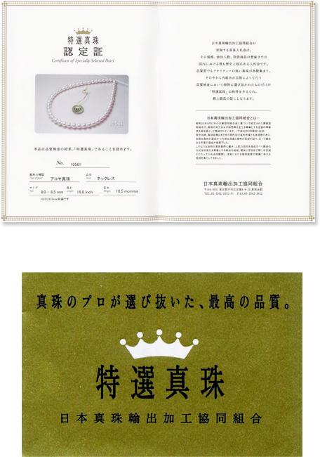 和珠の最高峰「特選真珠」ネックレス 茨城県桜川市宝石店