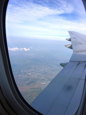 飛行機から眺めた研究学園!