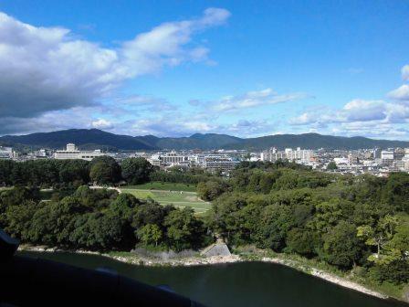 2015年秋 岡山出張(4) 岡山城に上ってみた!