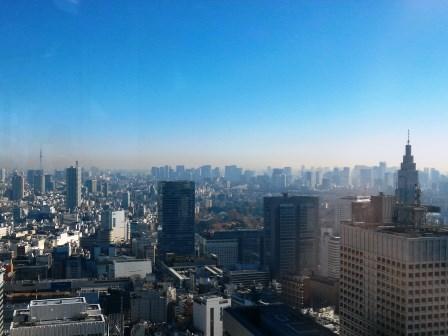 東京都庁舎展望室から富士山を見る!