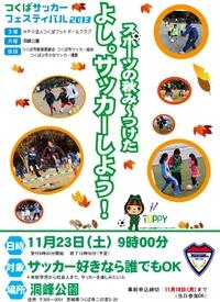 【つくばサッカーフェスティバル2013】 スポーツの秋み~つけた よし。サッカーしよう!