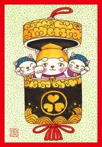 招き猫イラスト・水戸黄門