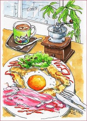 『カフェ・バンライケン』のガレット