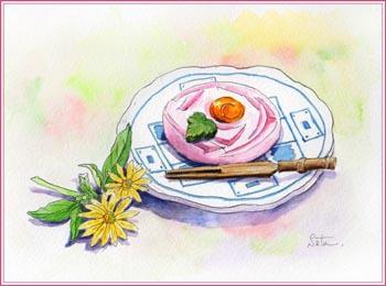 和菓子屋「秋月」のバラ練りきり