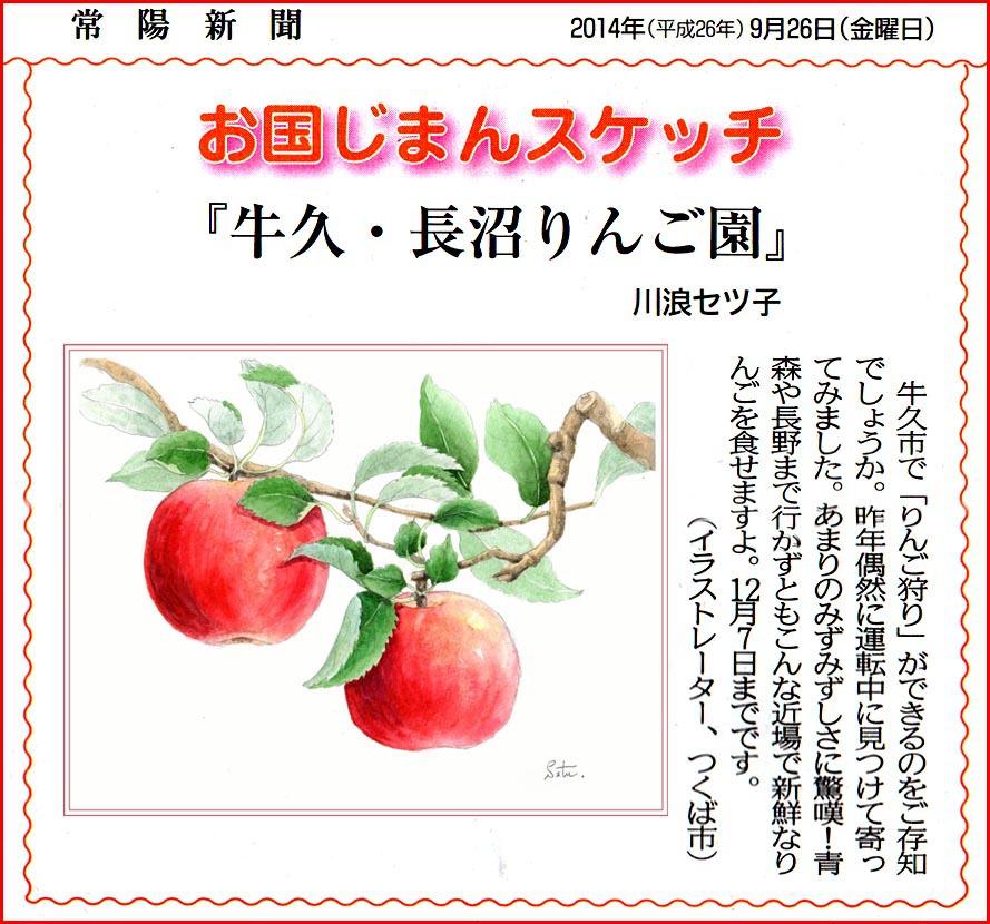 常陽新聞・りんご