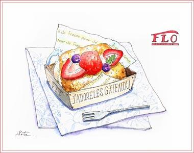 季節のフルーツバスケットケーキ