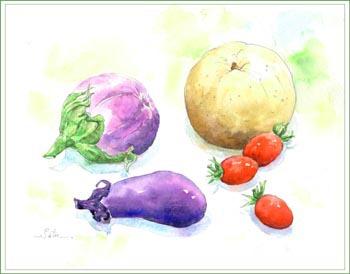 イタリアなすと夏野菜