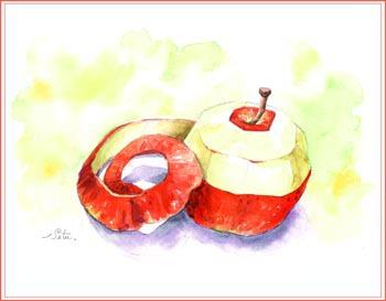 リンゴと皮