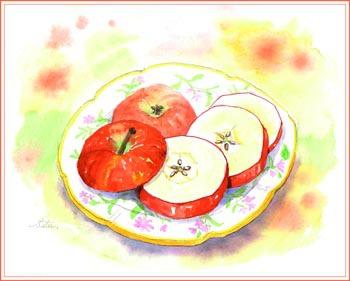 リンゴ・スライス