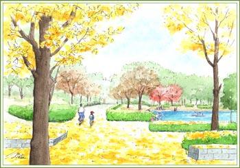 つくば市・松代公園の秋