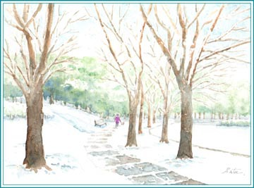 雪の日のお散歩
