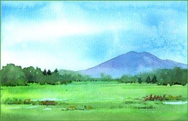 心象風景の筑波山