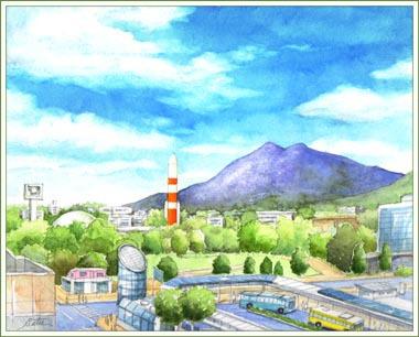 6階から見た筑波山