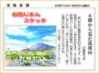 常陽新聞・6Fから見た筑波山
