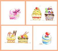 カップケーキとマカロン