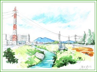 清水橋から筑波山