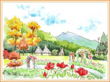 石岡フラワーパークの紅葉・その2